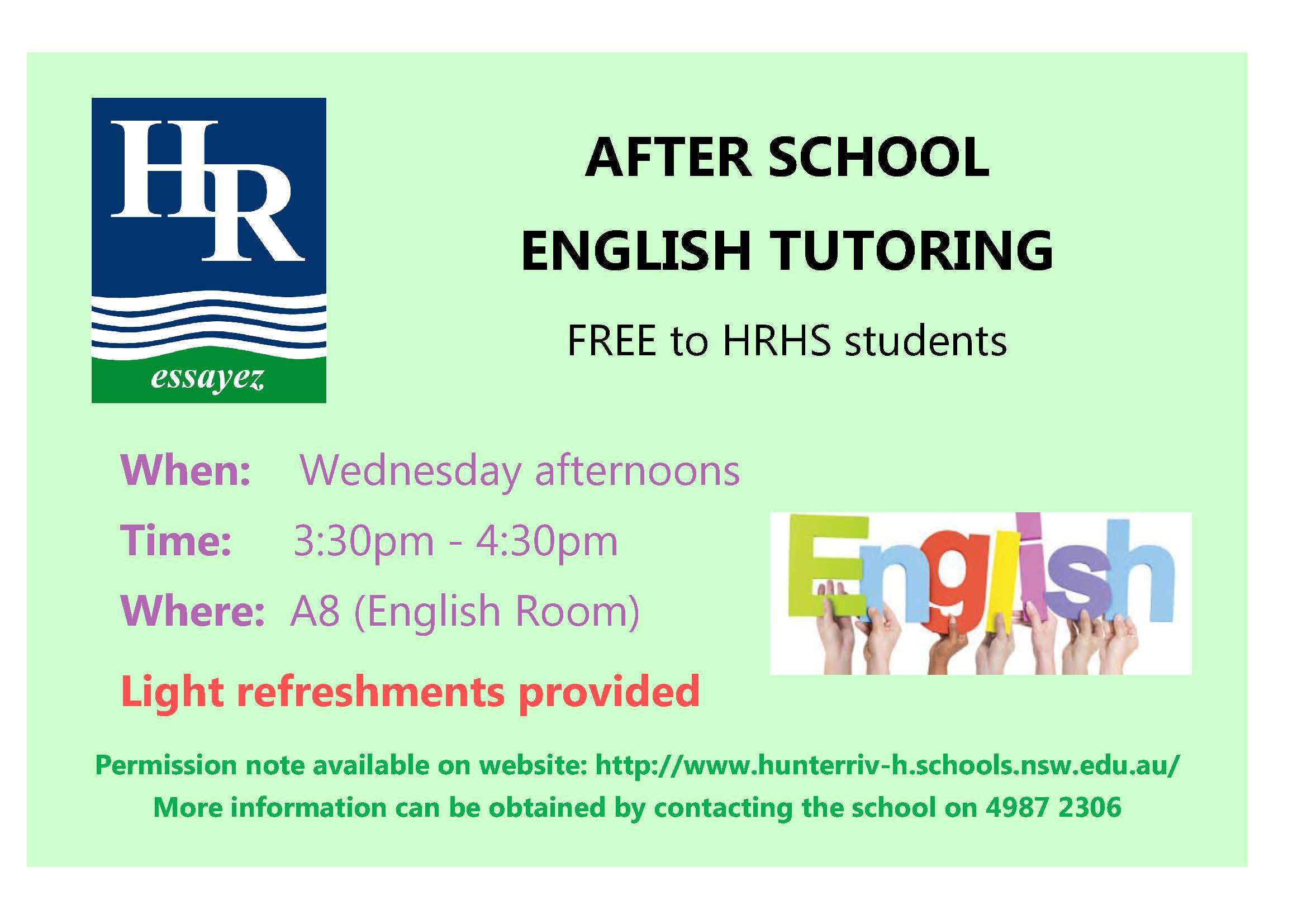 English Tutoring note